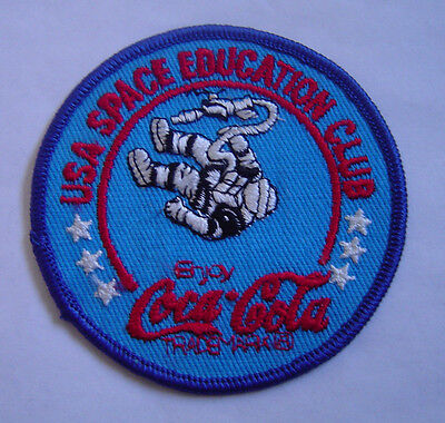 USA Space Education Club  Coca-Cola Vintage Patch 3 inch round