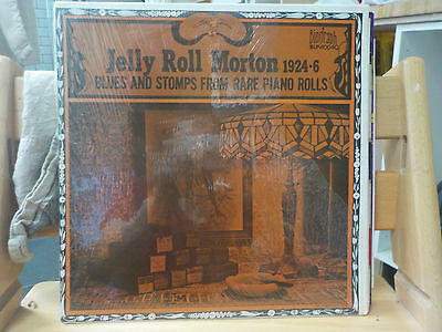 Jelly Roll Morton 1924-26 Blues & Stomps From Rare Piano Rolls Vintage Vinyl Lp