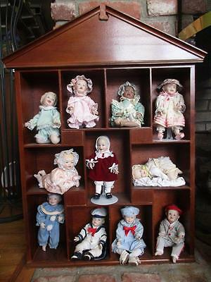 Set of 11, ASHTON DRAKE MINI DOLLS with Accessories & BONUS Display House - EUC