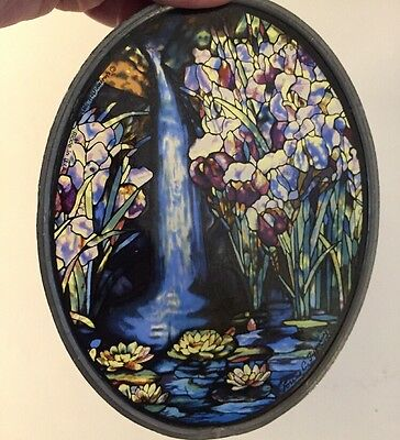 GLASSMASTERS TIFFANY STAINED GLASS Waterfall USA Made