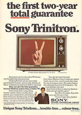 1973 Sony Trinitron TV Television Retro Print Advertisement Ad Vintage VTG 70s