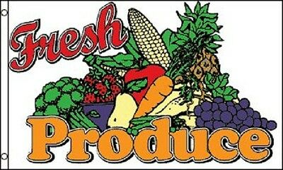 Fresh Produce Farmers Market Flag Business Advertising Banner Pennant Sign 3x5