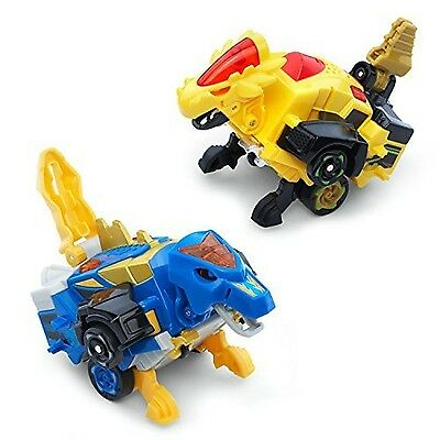 VTech Switch & Go Dinos - Bipedal Turbo Dinos 2-pack with Cruz and Spinner New