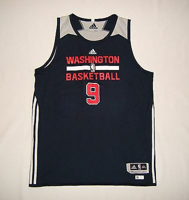 Adidas Washington Wizards Team Issue Practice Game Worn Jersey  2XL +2  Pro Cut