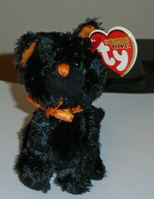 "Ty Halloweenie Beanie Baby ~ FRIGHTS the 4"" Black Cat ~ MINT with MINT TAGS"