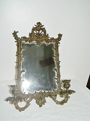 Antique Ornate Beveled  Mirror Wall Sconce Candle Holder Pat'd 1215 June 19-94