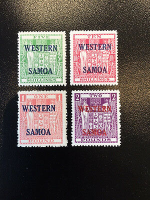SAMOA  216 - 219  Beautiful Mint Never Hinged Set    UC4