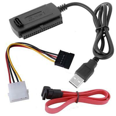 SATA/PATA/IDE to USB2.0 Converter Cable Adapter for 2.5/3.5'' Hard Drive DiskJ3W