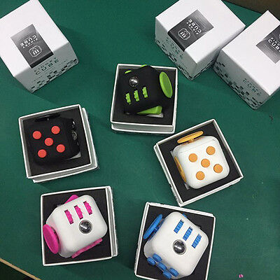 High Quality Fidget Cube Anxiety Attention Stress Relief Stuffer Xmas Gift Toys