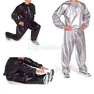 Gym Exercise Fitness Sauna Sweat Suit Track Suit Slimmer Weight Loss Anti-Rip