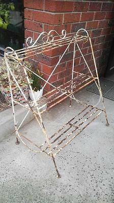 vintage plant stand SHABBY retro INDUSTRIAL  planter stand 3 tier