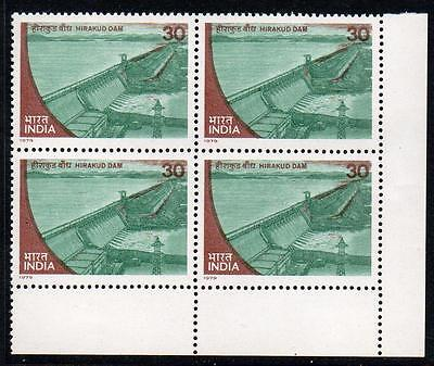 INDIA MNH 1979 13th International Commission on Large Dams, Block of 4