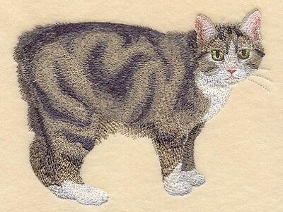 Large Embroidered Zippered Tote - Manx Cat C7953