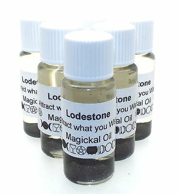 Lodestone Gemstone Magickal Anointing 10ml Oil Magnet of Attraction