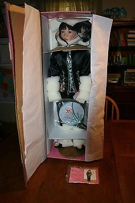 """Paradise Galleries Treasure Collection 30"""" Mei Lin Porcelain Doll Box&Stand NEW"""