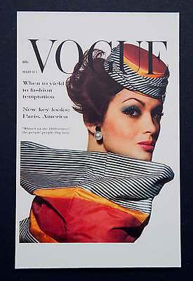 POSTCARDS FROM VOGUE - March 1, 1961 - Cover Postcard - NEW