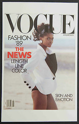 POSTCARDS FROM VOGUE - January 1989 - Cover Postcard - NEW