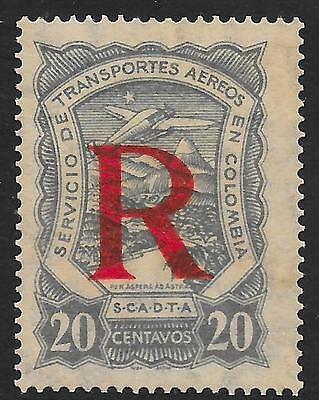 Colombia stamps 1923 YV Airmail 57  MLH  VF