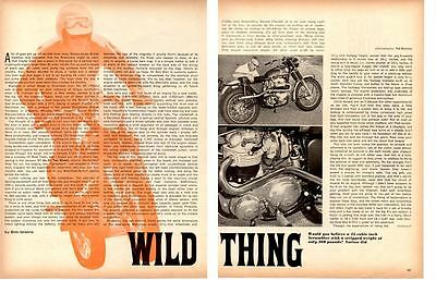 1967 NORTON 750cc SCRAMBLER MOTORCYCLE ~ ORIGINAL 3-PAGE ARTICLE / AD