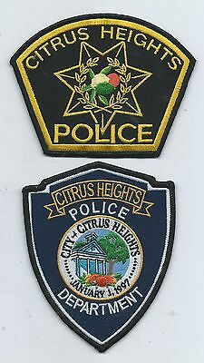 Two generations of Citrus Heights patches- Calif.