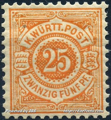 Allemagne Wurtemberg N° 60 Neuf * Avec Charniere