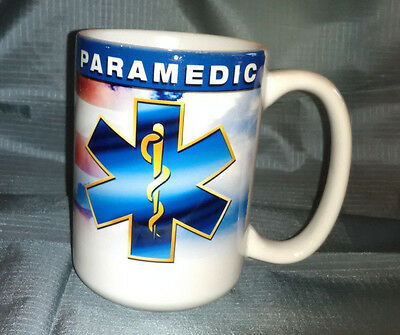 NEW Mug ~ Paramedics Red/White/Blue ~ GREAT All-Over Graphics ~ XL & Heavy