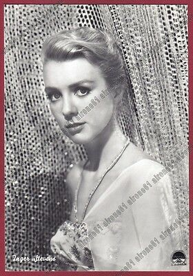 INGER STEVENS 01 ATTRICE ACTRESS CINEMA MOVIE PEOPLE STAR Cartolina FOTOGRAFICA