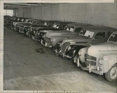 1940 Press Photo 15 Cars Found After Chicago Police Busted Auto Theft Ring