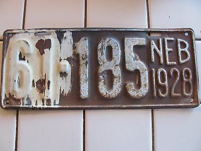 antique NEBRASKA License Plate 1928 Sheridan County