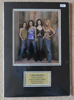 CHARMED - MILANO McGOWAN COMBS CUOCO - XMAS OFFER - SUPERB SIGNED PHOTO - COA