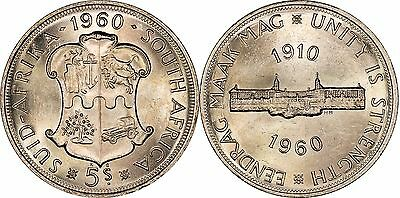 South Africa - 1960 5 Shillings **MINTAGE OF 396,000**