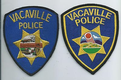 Two  generations of Vacaville P.D. patches- Calif.