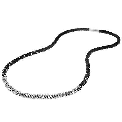 Long Beaded Kumihimo Necklace Black & Silver Exclusive Beadaholique Jewelry Kit
