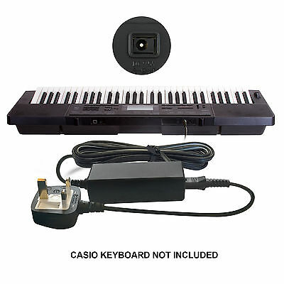 DC 9.5V 9.5 Volt Power Supply Mains Adapter for Casio Keyboard Piano CTK-3200