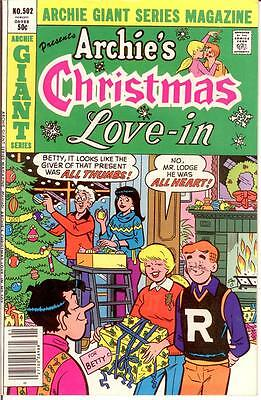 ARCHIE GIANT SERIES (1954-1992) 502 VF Christmas 1981 COMICS BOOK