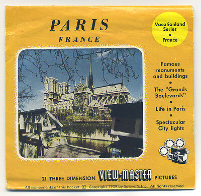 PARIS France 1959 Belgium-made Sawyer's ViewMaster Packet with Reels 1403-ABC