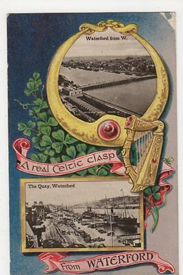 Ireland, A Real Celtic Clasp from Waterford 1909 Postcard, B402