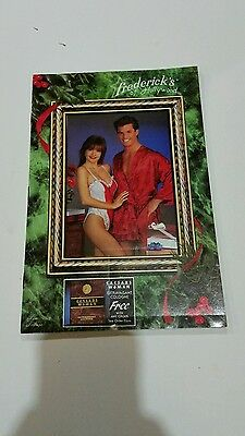 Fredericks of Hollywood Catalog Christmas 1990 80s 90s Fashion Lingerie Models