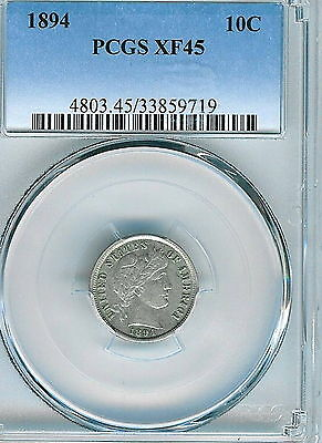 1894 Barber Dime : PCGS XF45