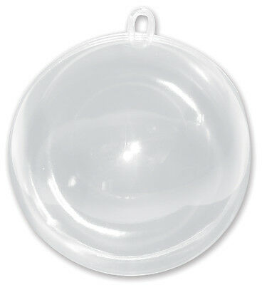 """""""Hanging Ball Ornament 100mm-Clear, Set Of 6"""""""