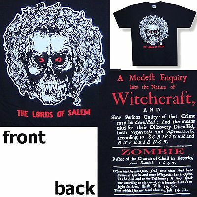 """Rob Zombie """"lords Of Salem"""" Witchcraft T-Shirt Large New"""