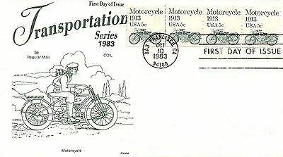 US FDC #1899 Motorcycle PNC Plate 3, Gamm (5752), CV $2,000