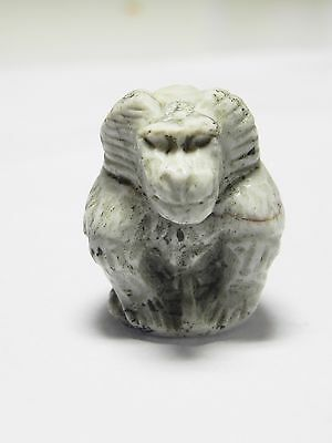 Zurqieh -Af948-  Ancient Egypt - Alabaster Amulet Of A Baboon , 664 - 332  B.c