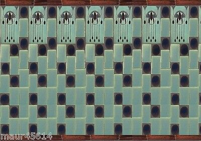 Dolls House printed Tile sheet ( Art Deco)