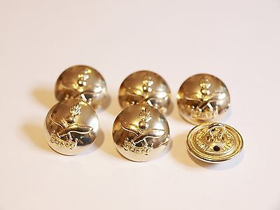 6x Queen's Gurkha Engineers MILITARY JACKET BUTTONS 19mm / 30 Ligne