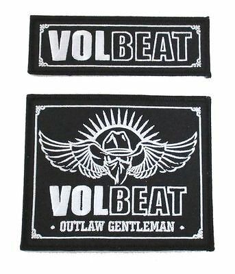 Volbeat Embroidered Outlaw Gentleman Patch 2 Piece Set New Official Music Band