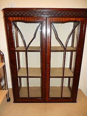 Victorian Glass Cabinet with lock and Key - Collection only from Basingstoke
