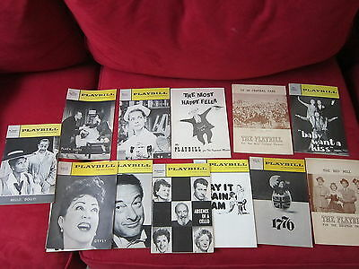 Lot of 13 Vintage Playbills 1960s Cactus Flower Hello Dolly! 1776 Plaza Suite