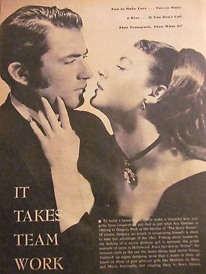 Ava Gardner, Gregory Peck, The Great Sinner Full Page Vintage Clipping