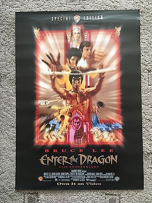 Original Bruce Lee Enter The Dragon Movie Film TV Poster 1997, 25th Anniversary